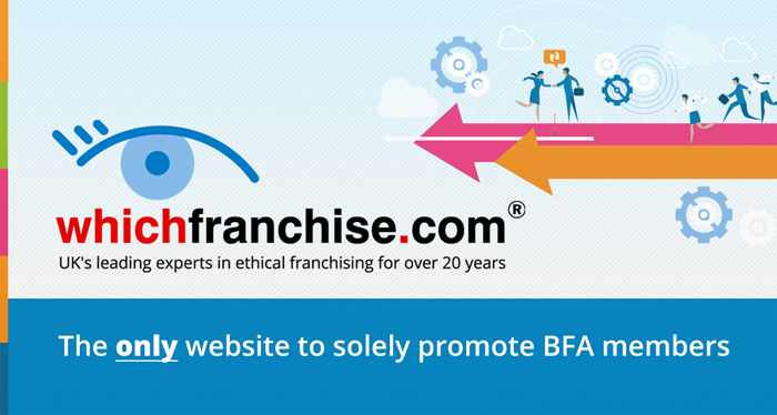 whichfranchise advert advertisement advertiser Official online partner of the bfa British Franchise Association membership ethical franchising ethical accredited franchise business