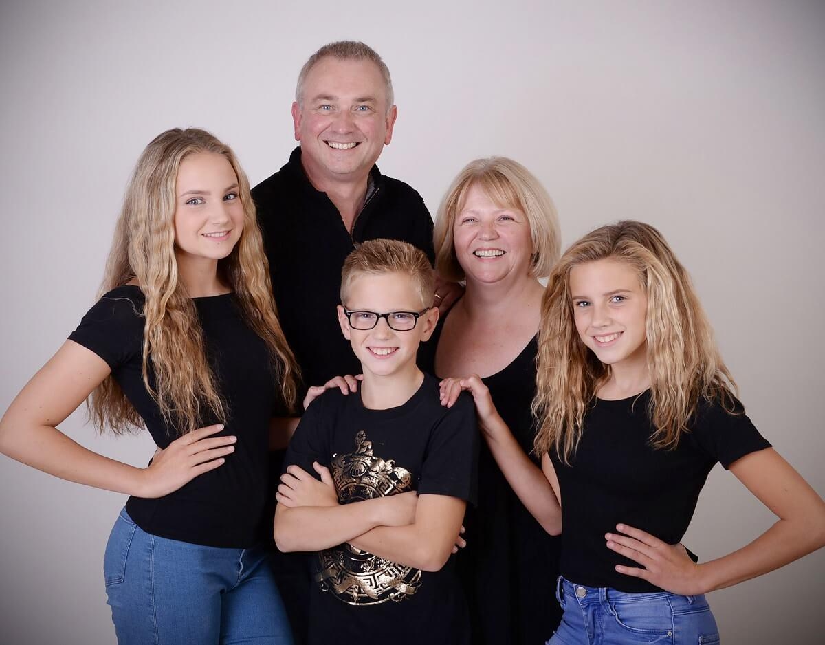 contemporary family portrait