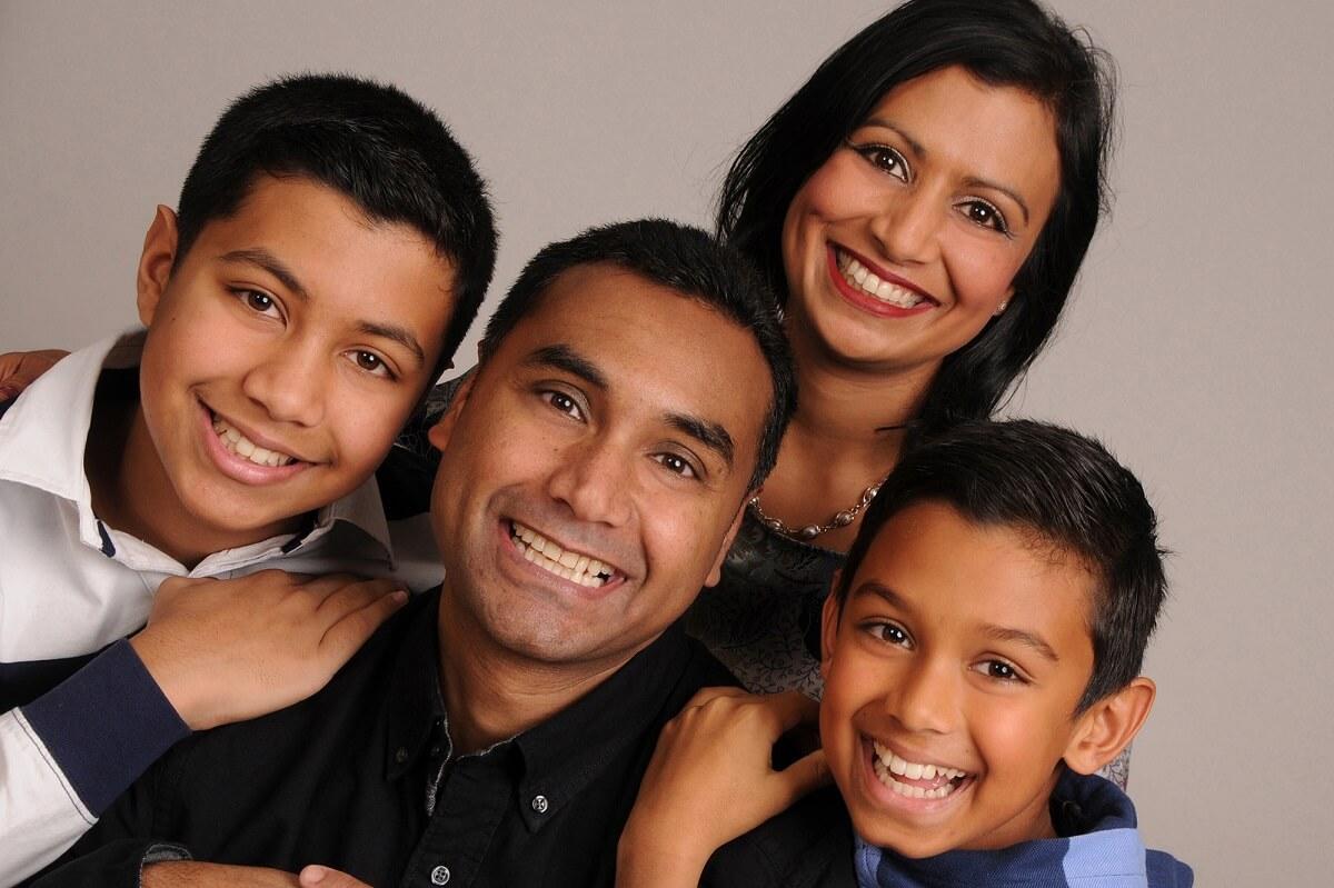 contemporary Portrait of family