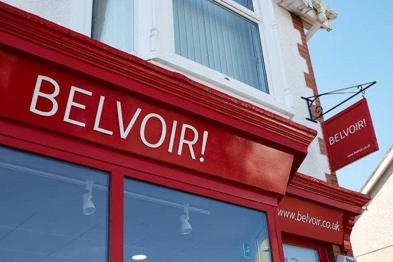 Belvoir Estate agent shopfront signage