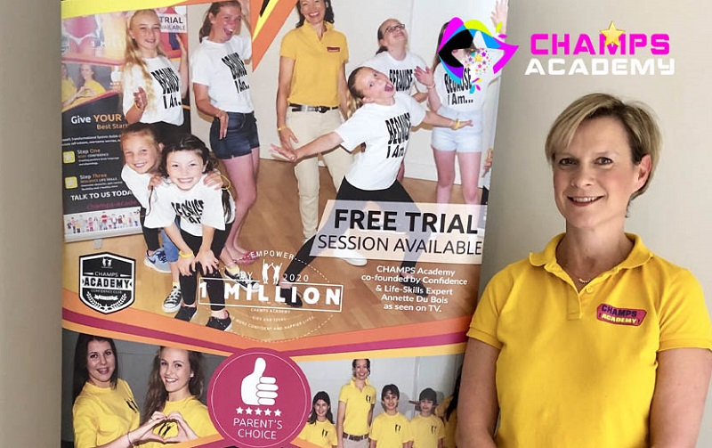 CHAMPS Academy franchisee and roller banner