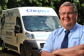 Chemex Franchise Business Opportunity Cleaning Hygiene Award winning lucrative profitable UK management van based mobile banner franchising franchisee owner