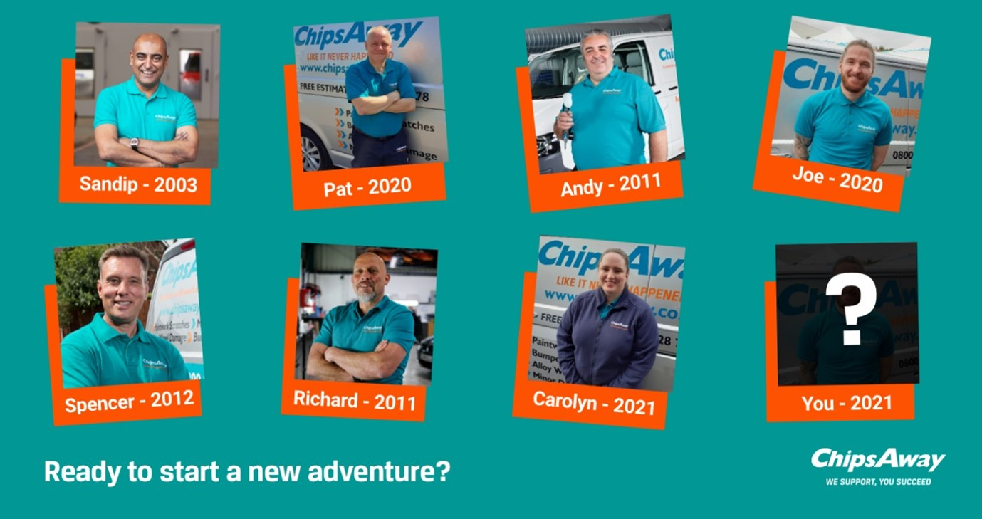 Chipsaway franchisees photo grid