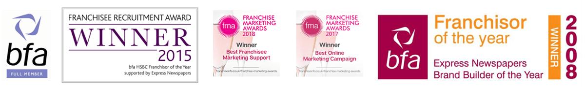 Dream Doors franchise award logos