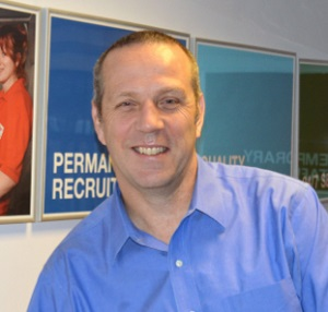 Driver hire franchisee Ed Pockney in his office