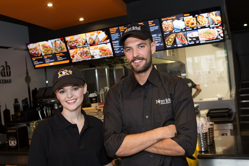 staff working in a German Doner Kebab store