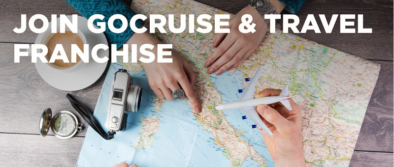 Gocruise franchisee using map