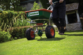 Greensleeves franchisee treating a lawn