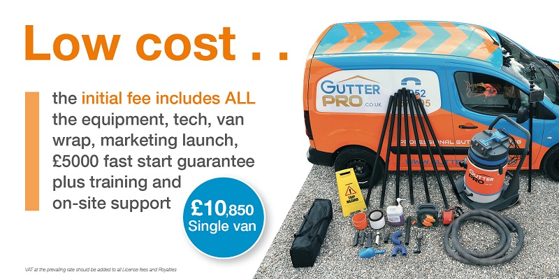 GutterPRO franchisee van and equipment