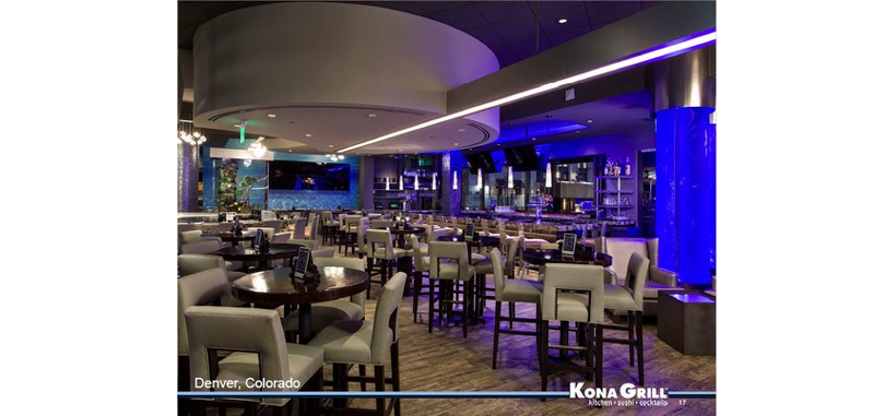 Kona Grill is an upmarket casual dining franchise