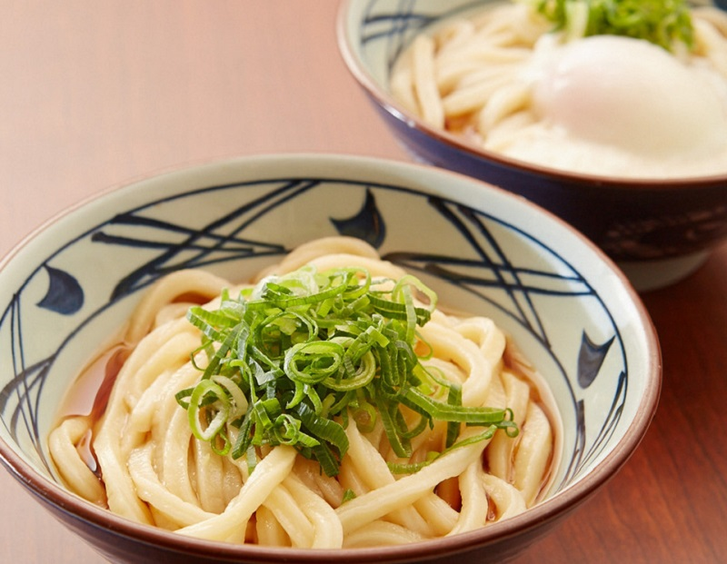 Marugame Udon dishes of udon noodles