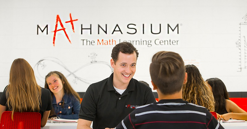 Mathnasium teacher with a student