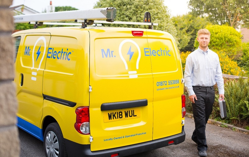 Mr Electric franchisee with his van