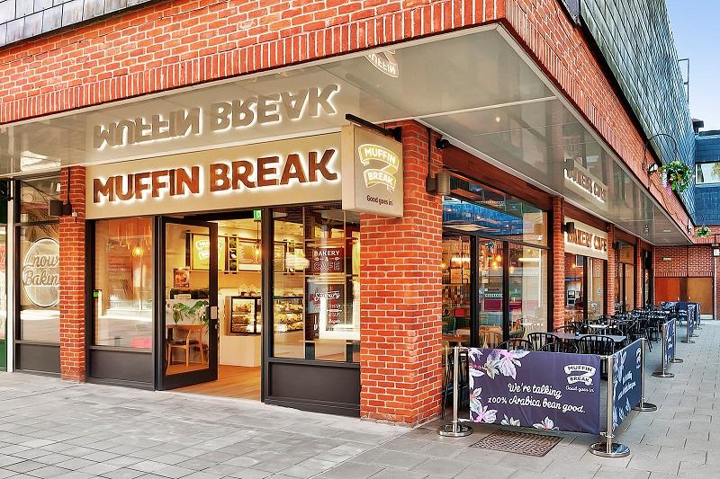 outside of a Muffin Break cafe