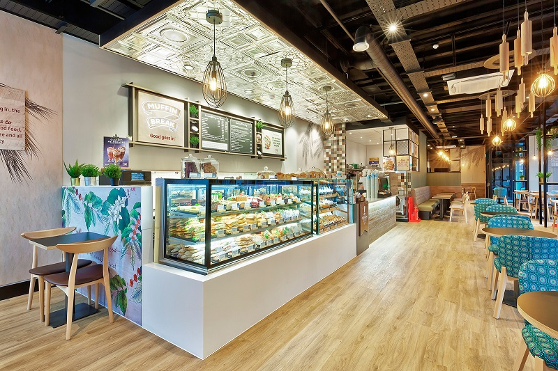 Internal image of a Muffin Break cafe