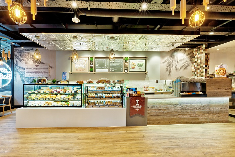 Internal image of a Muffin Break cafe