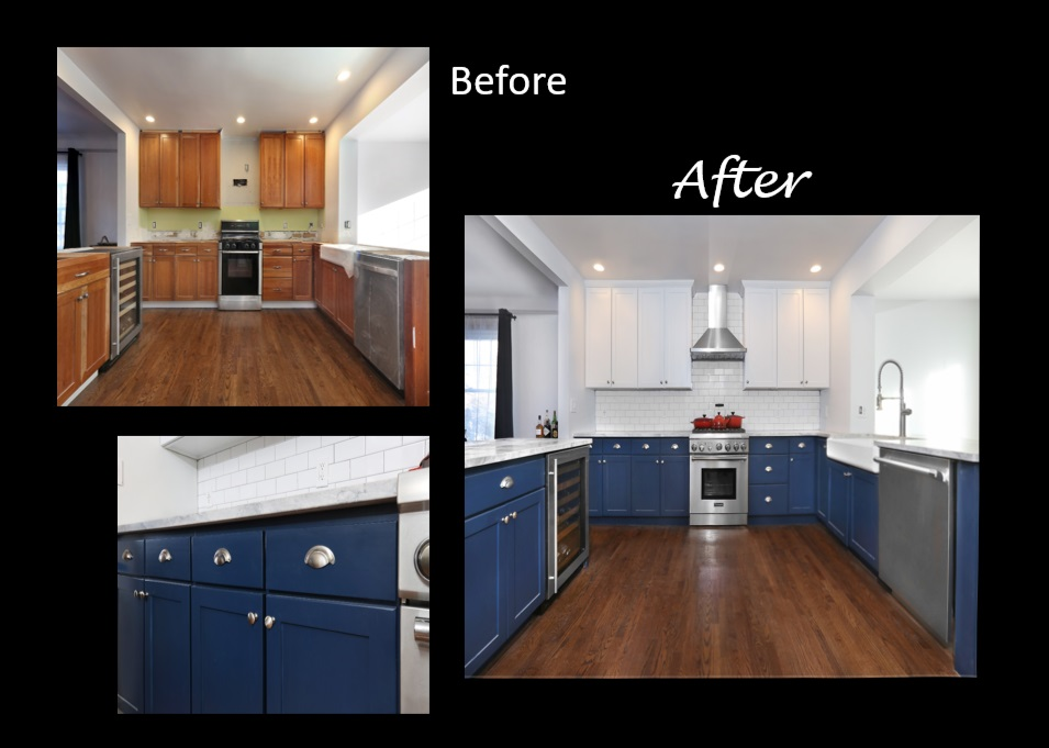 n-hance before and after kitchen