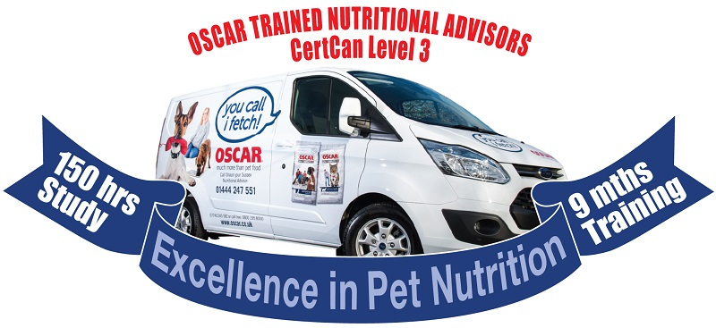 oscars pet foods excellence in nutrition banner