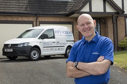 ovenclean franchisee with his van