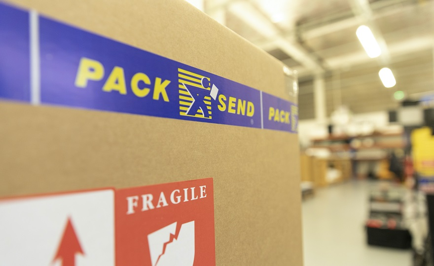 Pack and Send branded parcel