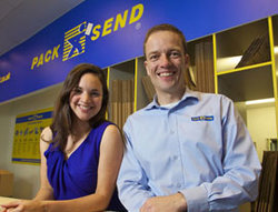 pack and send husband and wife team franchisees