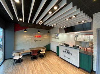 Papa John's franchise store interior