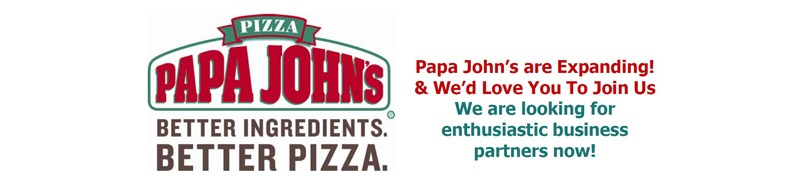 Papa John's franchise recruitment banner