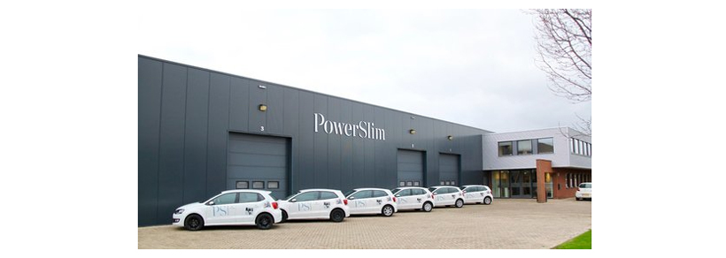 powerslim head office with cars