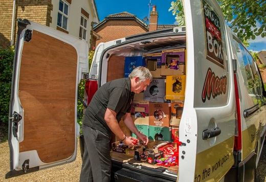 Snack in the box franchise opportunity delivery vendor mars van based business lucrative walkers crisps britvec home-based home delivery services