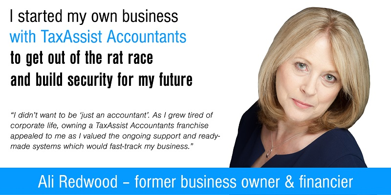 TaxAssist Accountancy franchisee Ali Redwood