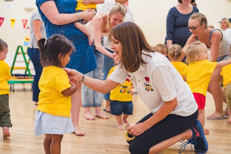Tumble Tots franchisee taking her class