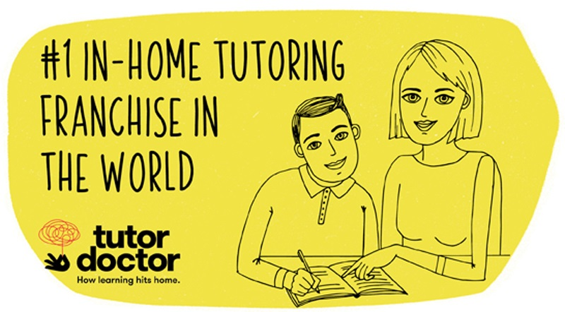 Banner saying Tutor Doctor Franchise is number one in-home tutoring franchise in world