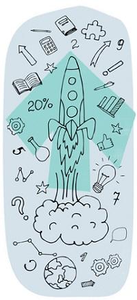 rocket symbolising growth of tutoring