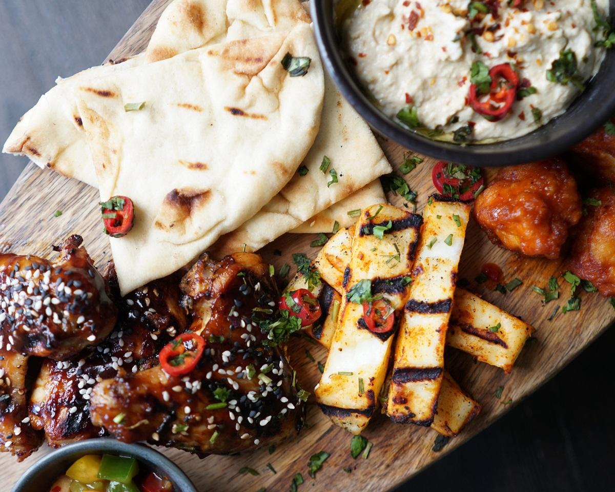 afrikana restaurant food platter