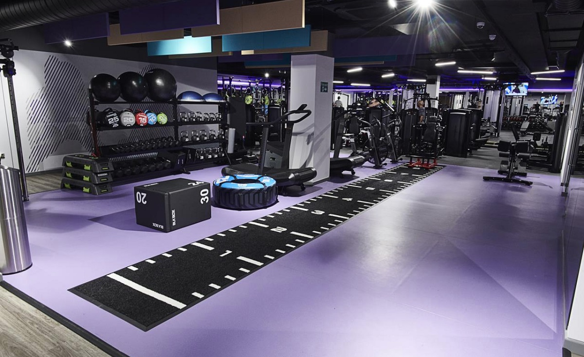 inside an Anytime Fitness gym
