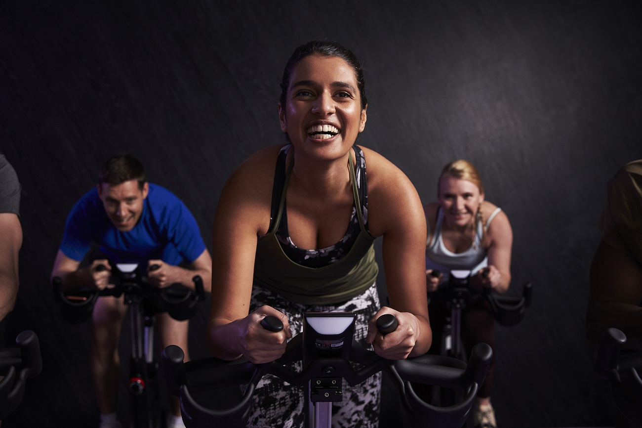 Anytime Fitness cycle class