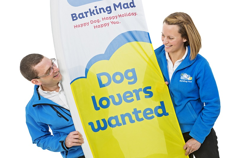 Barking Mad franchisees with recruitment banner
