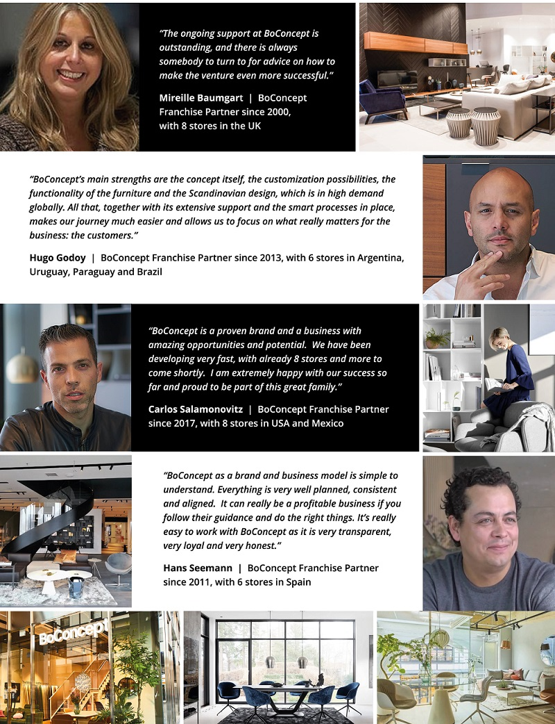 testimonies from BoConcept franchisees