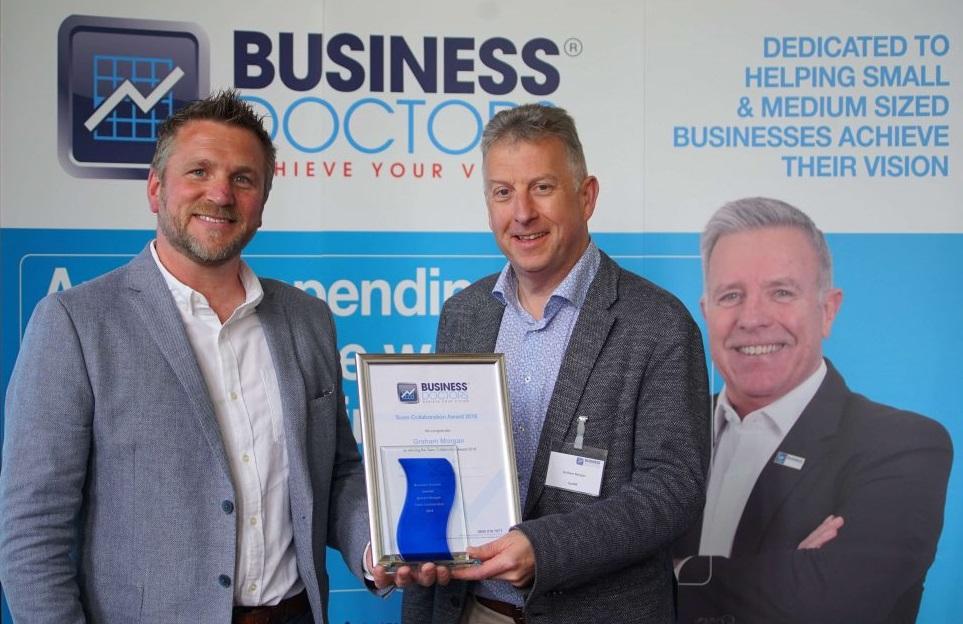 Business Doctors franchisees winning an award