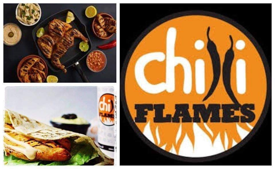 banner showing examples of chilli flames menu