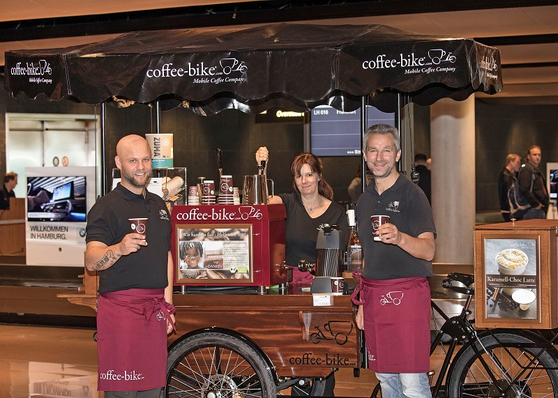 coffee-bike franchisees serving coffee
