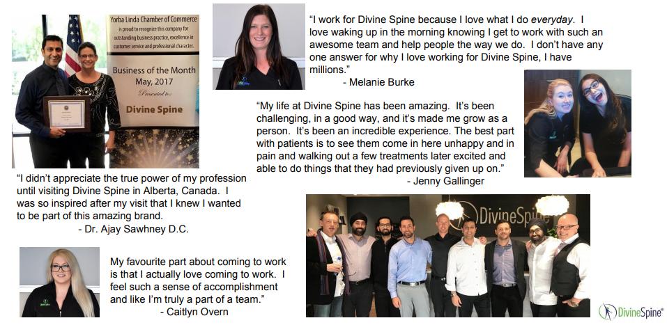 Divine Spine testimonials