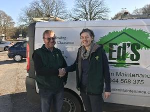 Lucy Williams with new Maidenhead franchisee John Spencer
