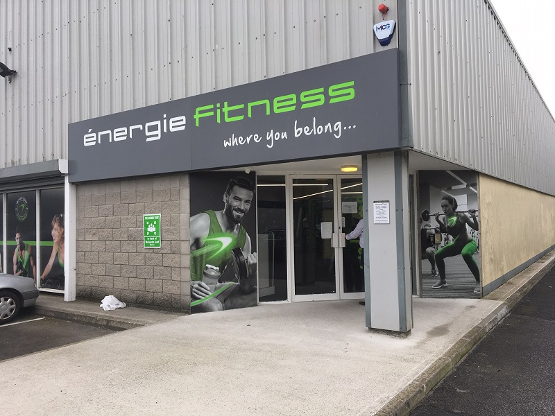 outside an energie fitness club