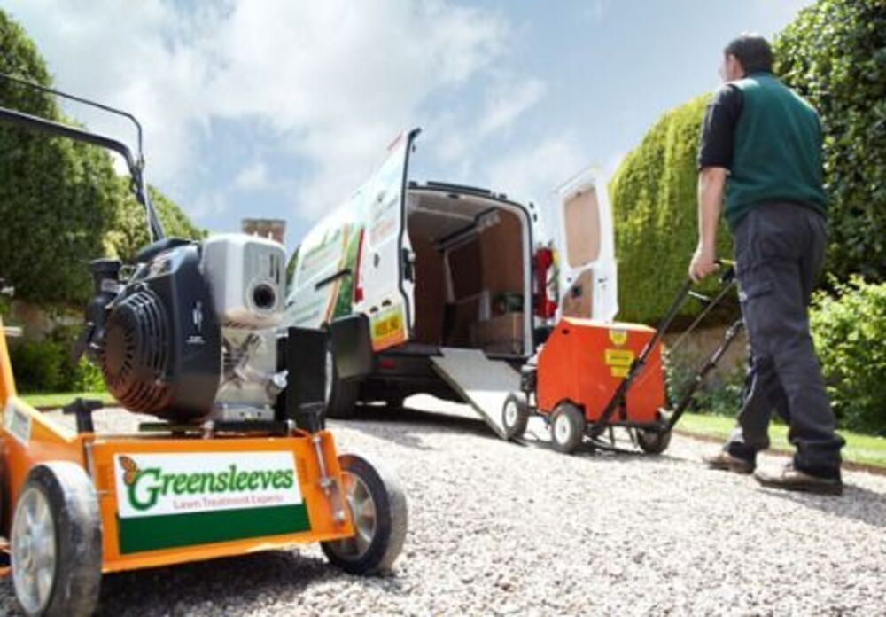Greensleeves franchisee packing equipment into his van