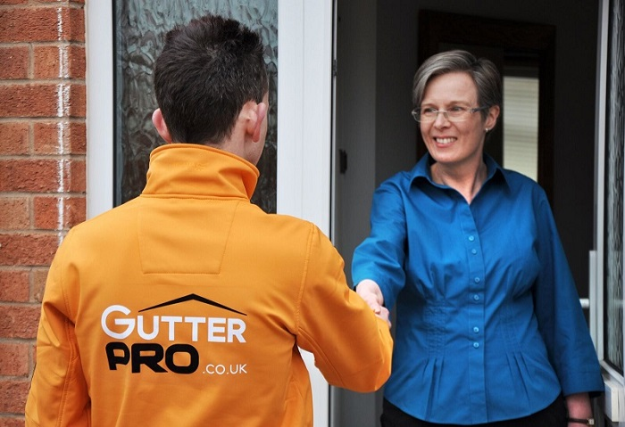 gutterpro franchisee meeting client