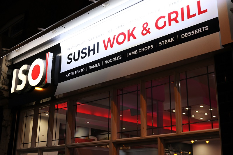 shop front of iso sushi brand sidcup