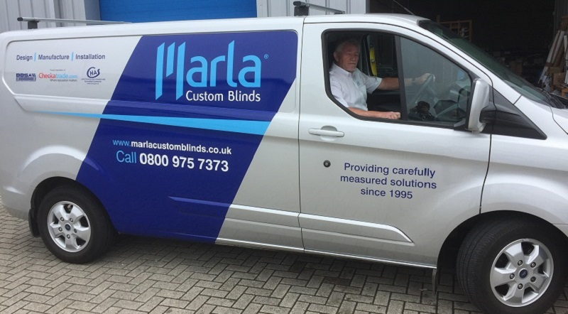 Marla Custom Blinds franchisee in van