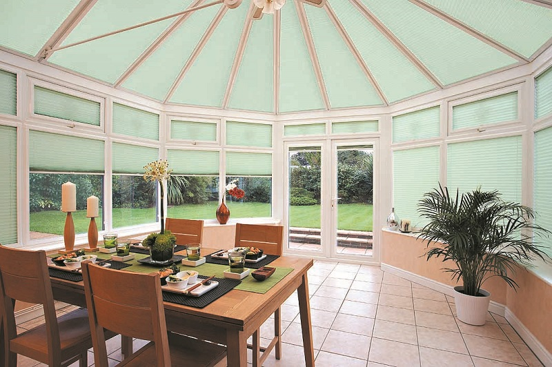 Marla Custom Blinds in conservatory
