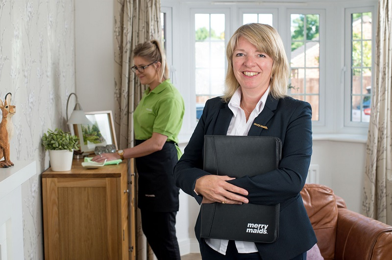 merry maids franchisee in clients home